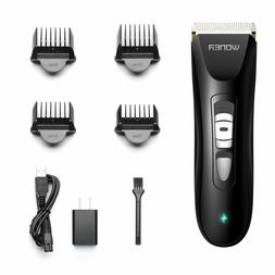 WONER 8 Piece Hair Cutting Kits Cordless Clippers Trimmers M
