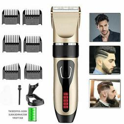 Cordless Mens Hair Clippers Trimmers Cutter Cutting Kit Mach
