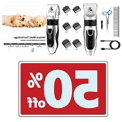 Cordless Rechargeable Professional Dog Hair Clippers For Thi