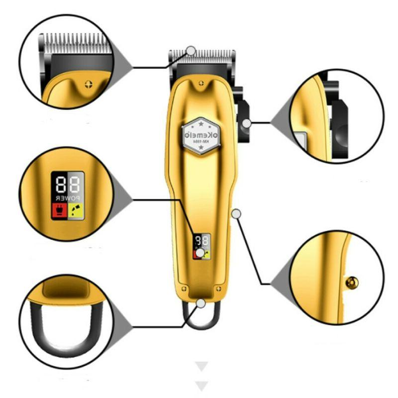 Kemei All-metal Professional Cordless Hair Clipper Trimmer, Color