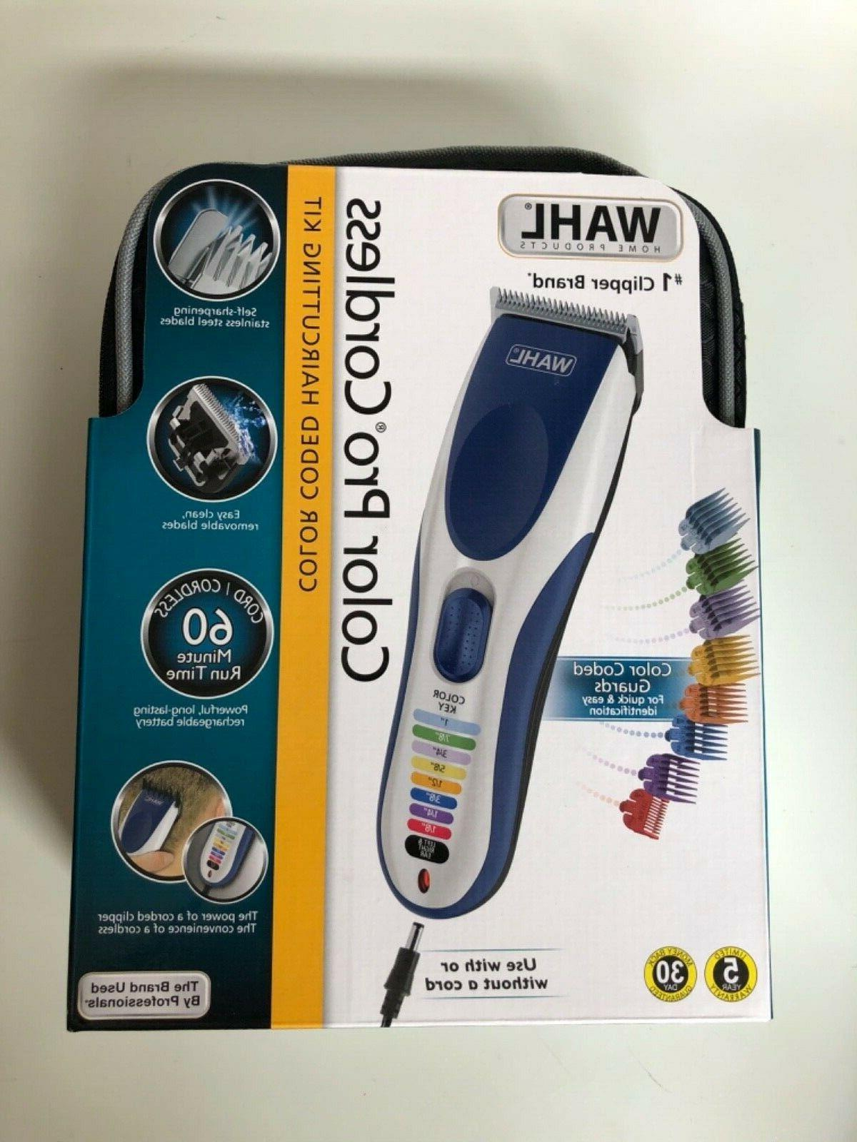 color pro cordless color coded hair clipper