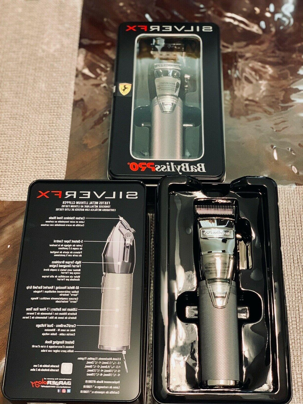 BaByliss Silver Metal Cordless Clipper