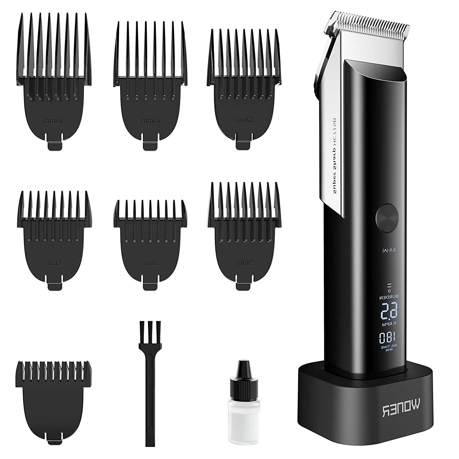 hair clippers with 5 adjustable speed rechargeable