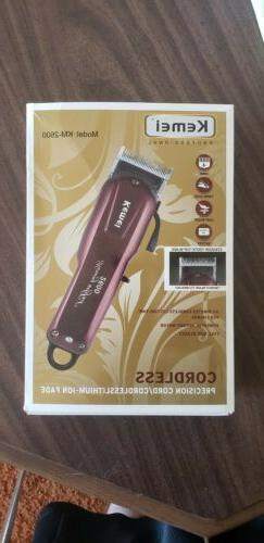 new electric cordless men hair clipper trimmer