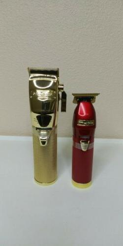 BaByliss Pro Red FX Skeleton Trimmer And Gold FX Professiona