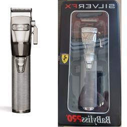 BaByliss Pro Metal Cordless Clipper Silver FX870S