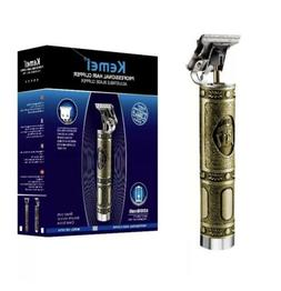 Kemei 1974a Metal Pro T-OUTLINER Cordless Trimmer Wireless P