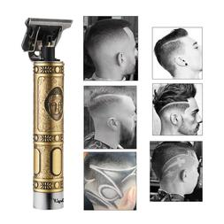 New Pro Electric Hair Clippers Cordless Rechargeable T-Blade