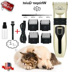 Pet Dog Cat Grooming Clippers Hair Trimmer Shaver quiet cord