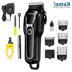 KEMEI Pet Dog Cat Hair Clippers Grooming Trimmer Kit Profess