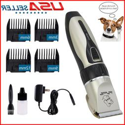 Pet Grooming Clippers Kits Low Noise Dog Cat Rechargeable Co