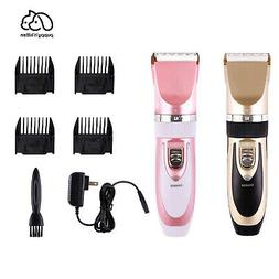 Professional Pet Dog Cat Cordless Electric Clippers Hair Gro