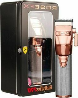 BaByliss PRO Rose Gold Cordless Lithium-Ion Adjust. Clipper